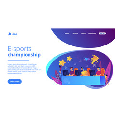 E-sport tournament concept landing page vector