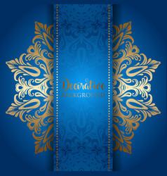 Elegant background with a gold mandala design vector