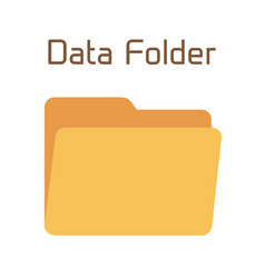 empty folder yellow container for document vector image