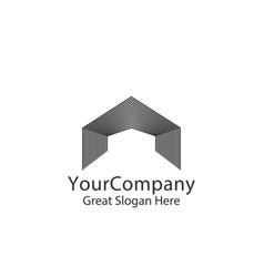 entrance door logo for home or real estate vector image