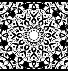 Ethnic black symbol yoga henna tattoo style vector