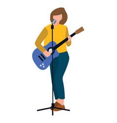 Female rock star vector
