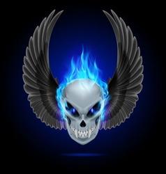 Flaming mutant skull vector