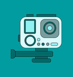 flat icon on background camcorder vector image
