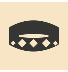 Flat in black and white mobile application collar vector