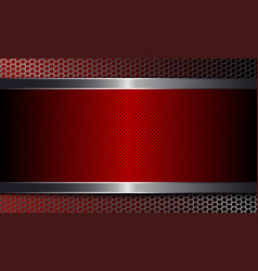 geometric background with metal grille and frame vector image
