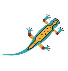 Geometric stylized lizard icon in flat design vector