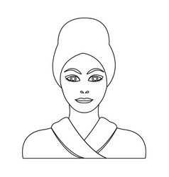 Girl single icon in outline stylegirl vector