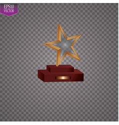 glass trophies plaque engraved crystal award vector image