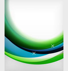 glossy wave background with light and vector image