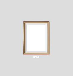 golden frame on the wall eps10 vector image