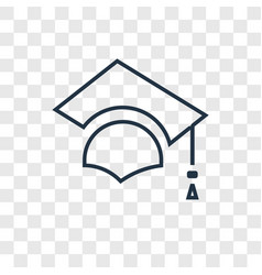 graduate concept linear icon isolated on vector image