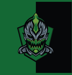 Green assassin devil vector