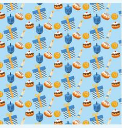 Happy hanukkah traditional decoration background vector