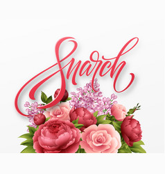 happy womens day on march 8 design of modern hand vector image