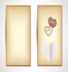 Horizontal Flyers with hearts vector image