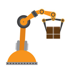 isolated industrial robot arm icon vector image