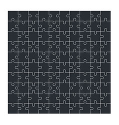 Jigsaw puzzle set of 100 pieces vector
