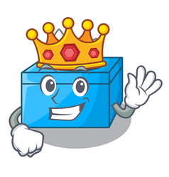 King tissue box isolated on the mascot vector
