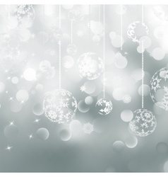 Light silver abstract Christmas EPS 8 vector
