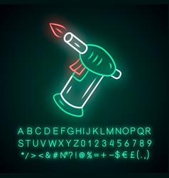 Lighter neon light icon cannabis industry ganja vector