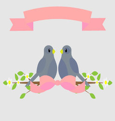 Loving dove vector image