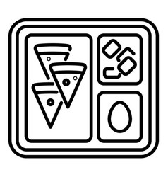 Lunch school tray icon outline style vector