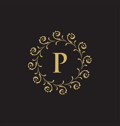 luxury crest decorative hotel boutique logo vector image