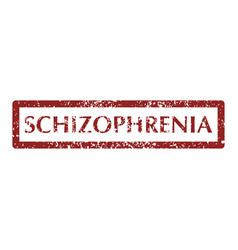 Mental disorder schizophrenia stamps vector