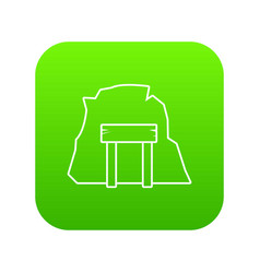 mine enter icon green vector image