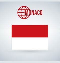 monaco flag isolated on modern background with vector image