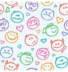 pattern smiles vector image