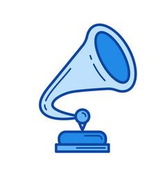 phonographe line icon vector image