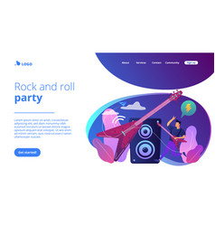 rock music concept landing page vector image