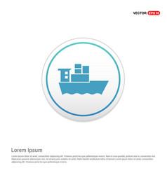 Sea ship icon - white circle button vector