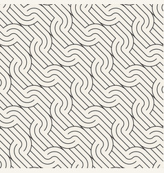 Seamless pattern geometric rounded stripes vector