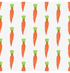 Seamless watercolor pattern with tiny carrots on vector image