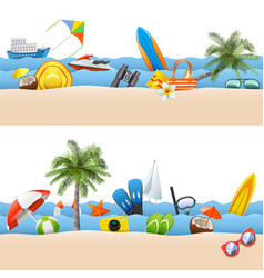seaside borders vector image