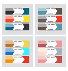 Set of business banner template horizontal vector