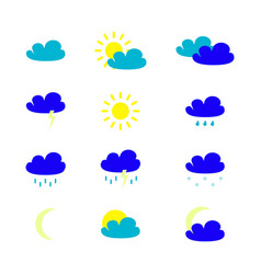 set of weather icons in the colour vector image