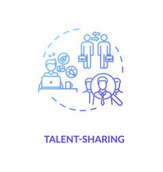 Sharing talent blue gradient concept icon vector
