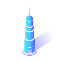 Skyscraper with sharp top modern city architecture vector