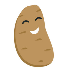 Smile potato icon flat style vector