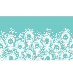 soft peacock feathers horizontal seamless pattern vector image