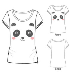t shirt with panda vector image