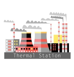 thermal power vector image