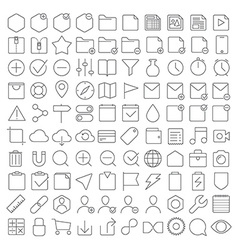 Universal interface icons set vector image