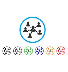 User connections rounded icon vector