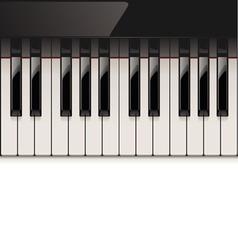 Vector detailed piano keyboard vector