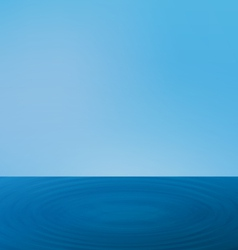 Wallpapers ripple sea landscape with horizon vector
